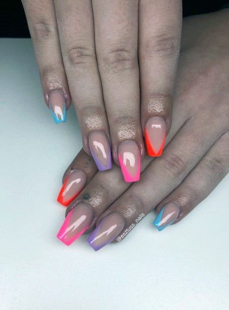 Squavol Colorful Tipped Nail Ideas For Women