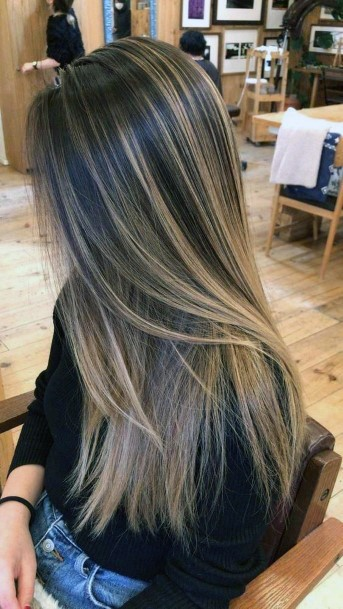 Staight Long Hairstyle Brunette