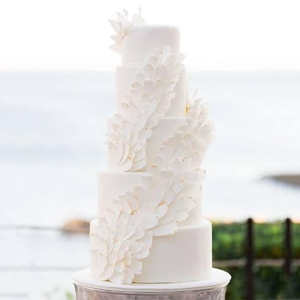 Stately White Wedding Cake