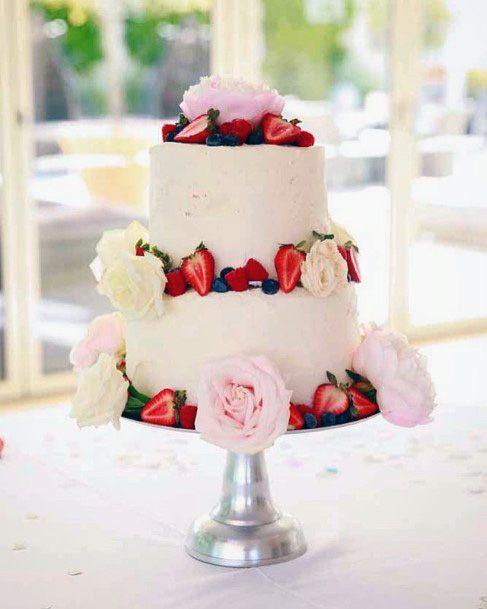 Strawberries Red Velvet Wedding Cake