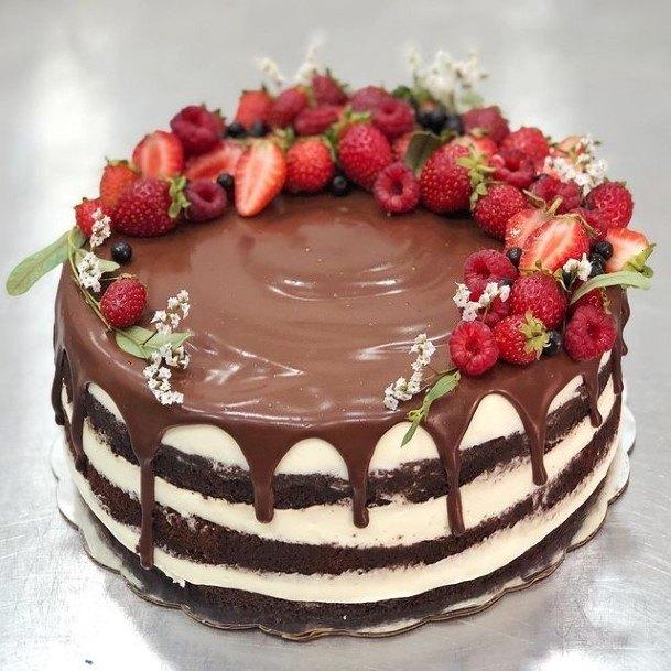 Strawberry Chocolate Wedding Cake