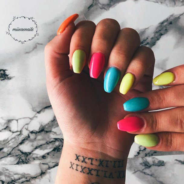 Striking Colorful Nail Ideas For Women