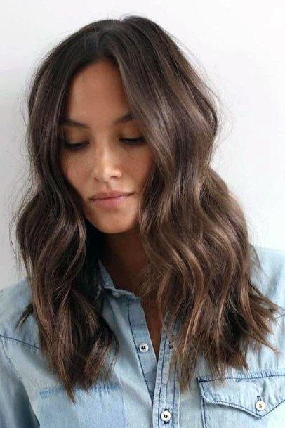 Striking Medium Length Hairstyle Brunette