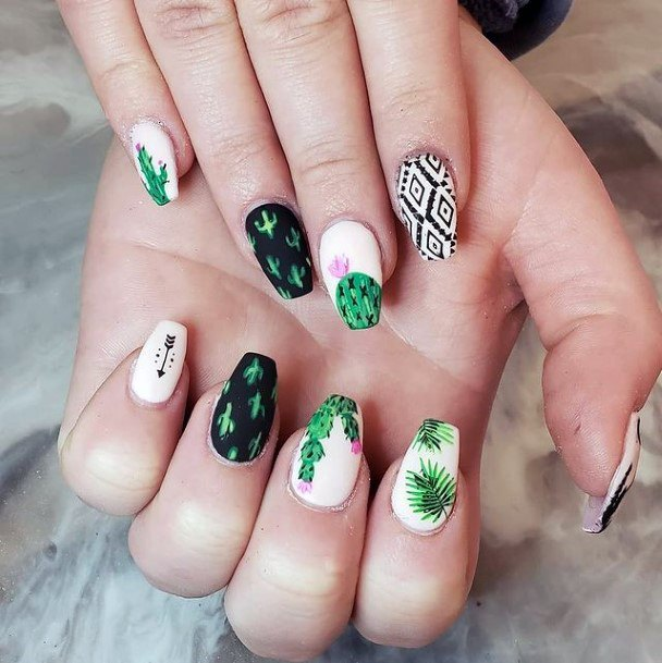 Stunning Cactus Nails Women