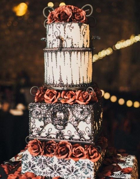 Stunning Halloween Wedding Cake