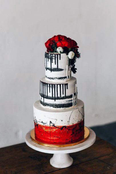 Stunning Red Velvet Wedding Cake