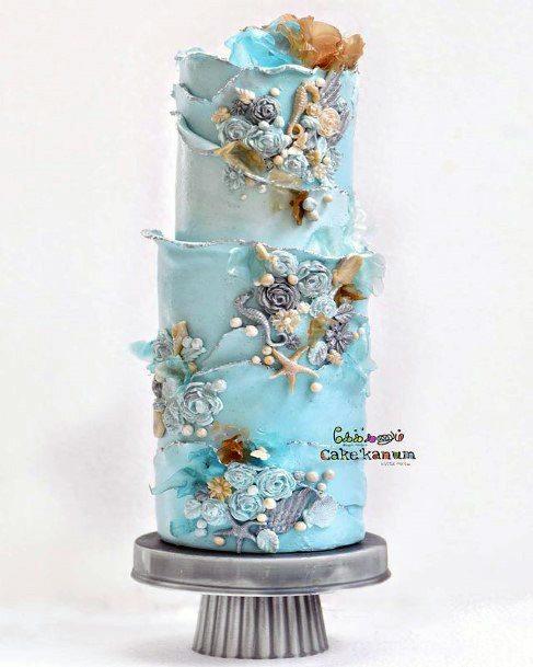Stupendous Beach Wedding Cake Women