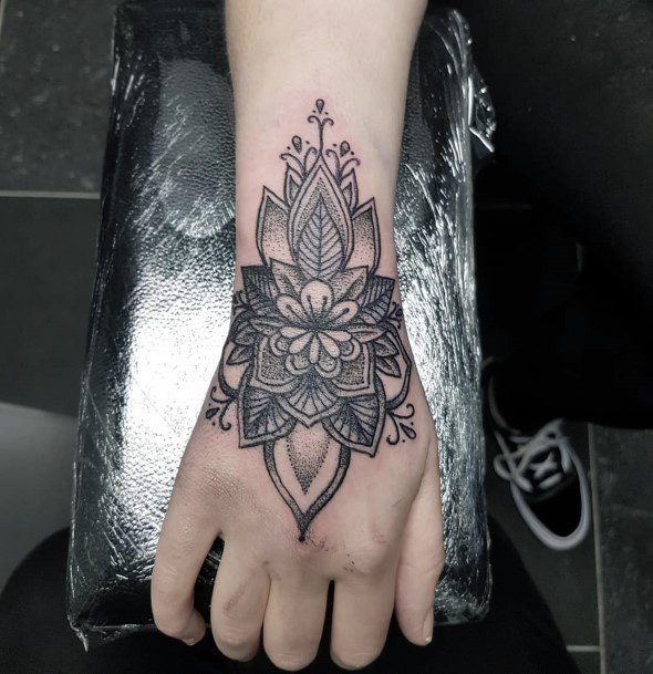 Stupendous Black Tattoo Womens Wrist