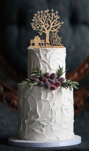 Stupendous Rustic Wedding Cake Tree Toppers Art
