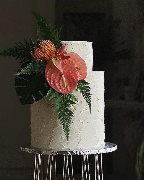 Stylish 2 Tier Wedding Cake