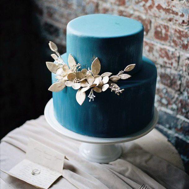 Stylish Blue Wedding Cake