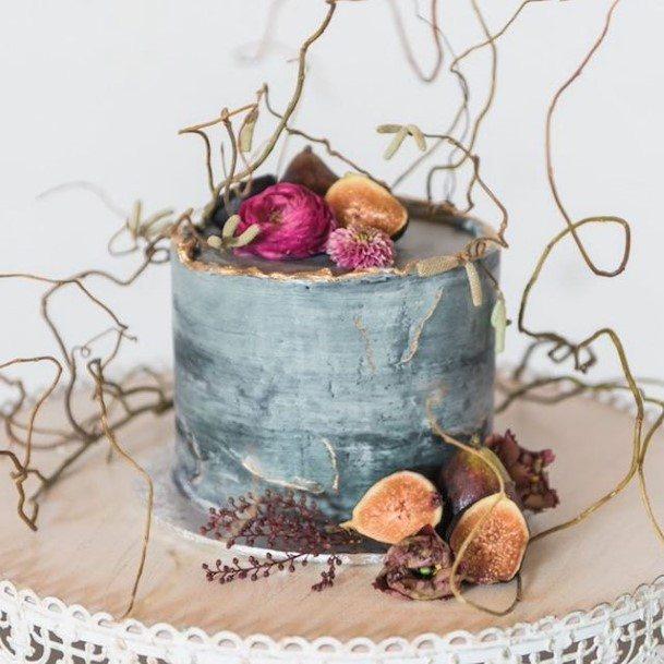 Stylish Boho Rustic Buttercream Wedding Cake