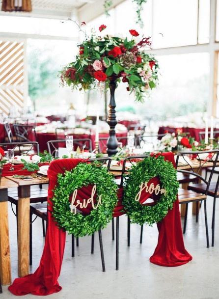 Stylish Christmas Wedding Flowers