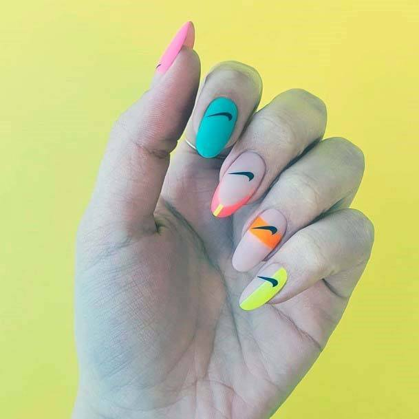 Stylish Colored Sport Nails For Women