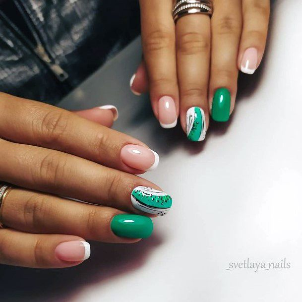 Stylish Kiwi Nails Women