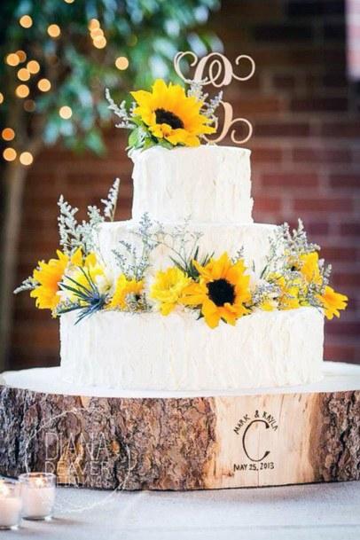 Stylish Rose Gold And Sunny Elegant Wedding Womens Cakes