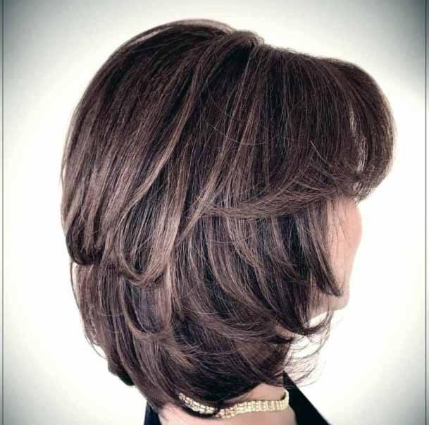 Stylish Rosewood Toned Short Hair Cut Women