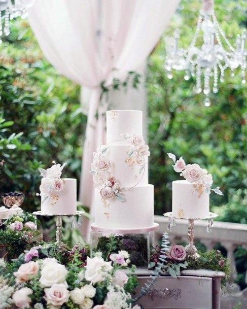 Sugary White Elegant Wedding Cake Women