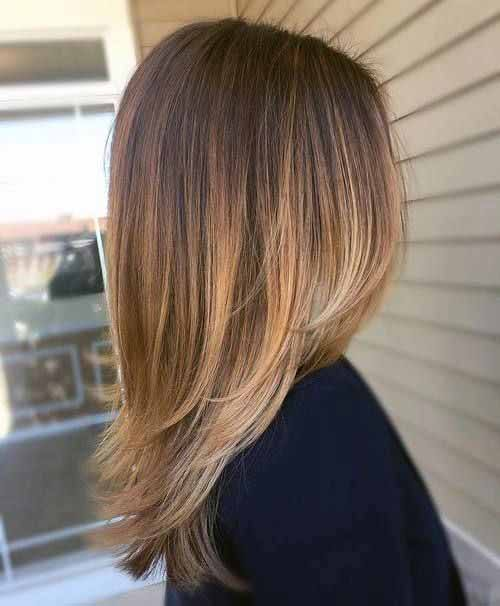 Sun Tipped Sleek Hairstyle For Women