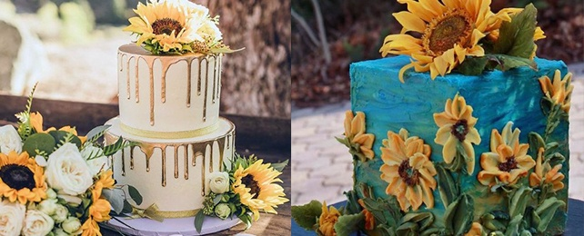 Top 70 Best Sunflower Wedding Cake Designs – Yellow Floral Cake Ideas