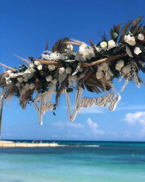 Sunny Beach Wedding Flowers Art
