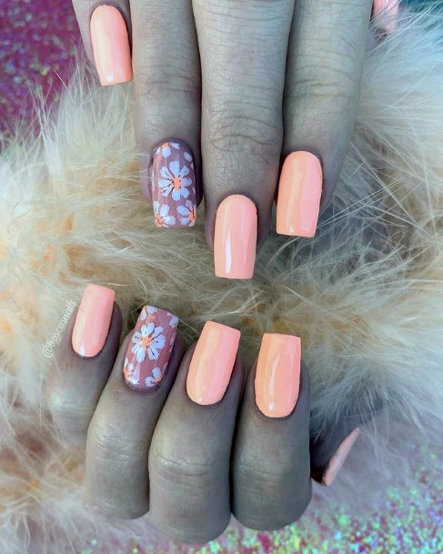 Sunset Peach April Nails Women