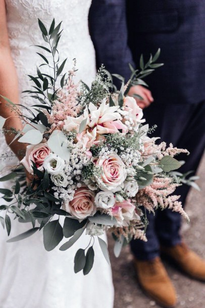 Super Blush Roses Flowers Wedding Bouquet