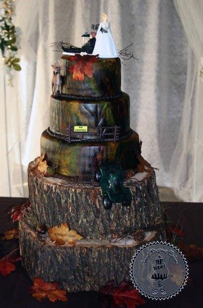 Super Camo Wedding Cake