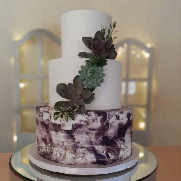 Super Purple Wedding Cake