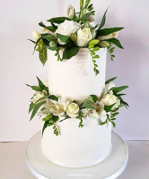 Superior White Wedding Cake