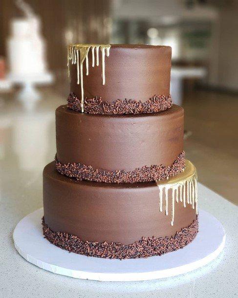 Sweet Chocolate Wedding Cake