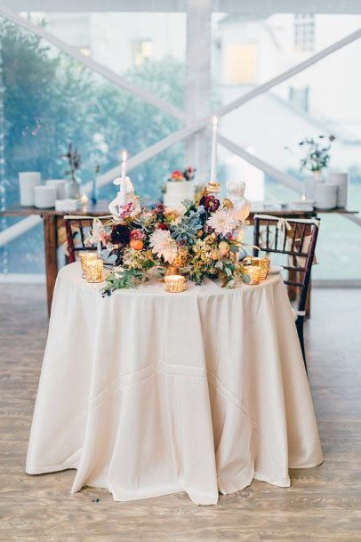 Sweet Heart Table November Wedding Flowers