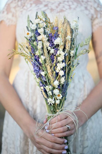 Sweet Lavender Flower Bouquet Wedding Flowers