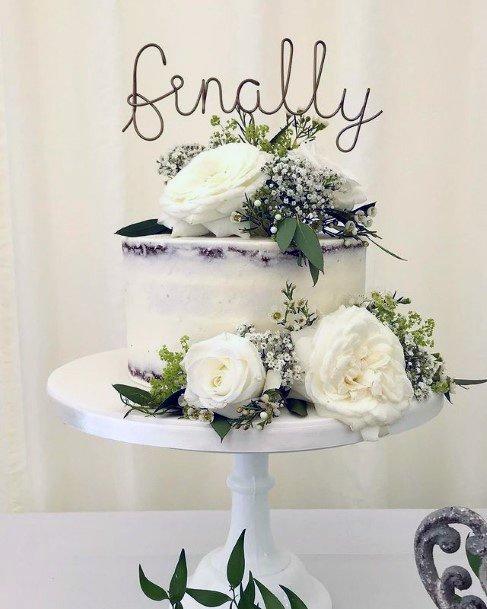 Sweet White Flowers Red Velvet Wedding Cake Art