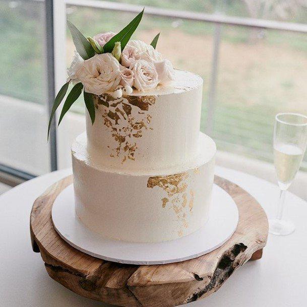 Swish Buttercream Wedding Cake