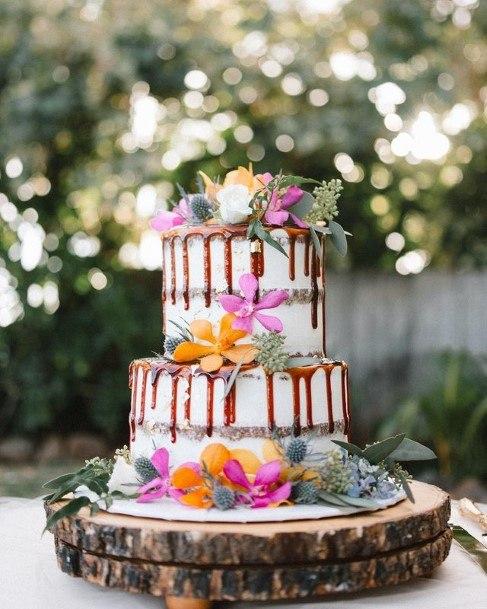 Syrupy 2 Tier Wedding Cake