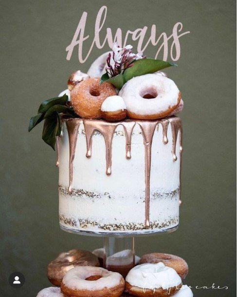 Syrupy Wedding Donut Cake