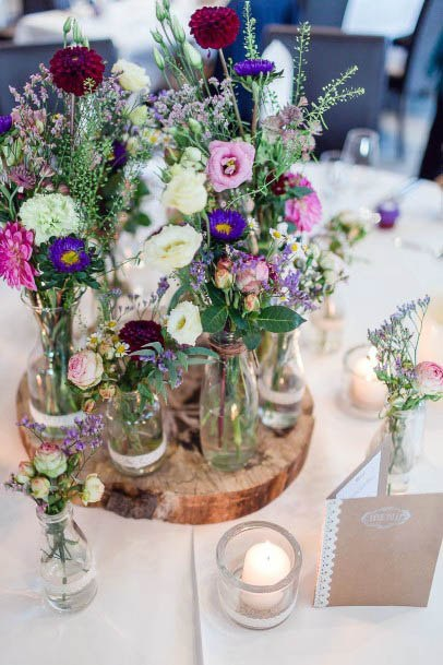 Table Decor August Wedding Flowers