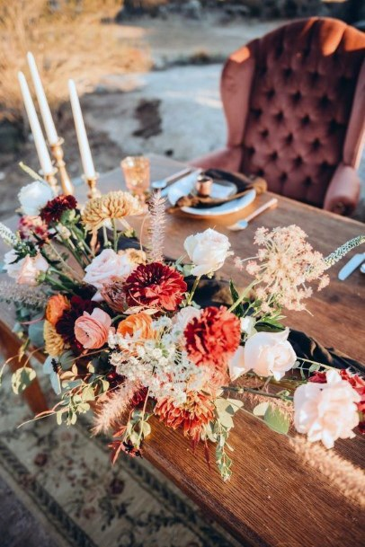 Table Decor Boho Wedding Flowers Artistic