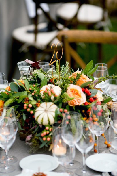 Table Decor November Wedding Flowers