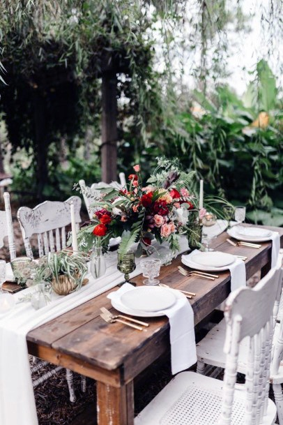 Table Dining Decor May Wedding Flowers