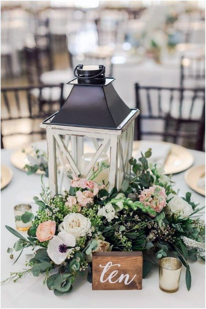 Table Lantern And May Wedding Flowers