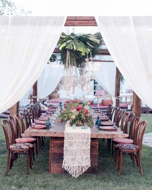 Table Runner Hawaiian Wedding Flowers