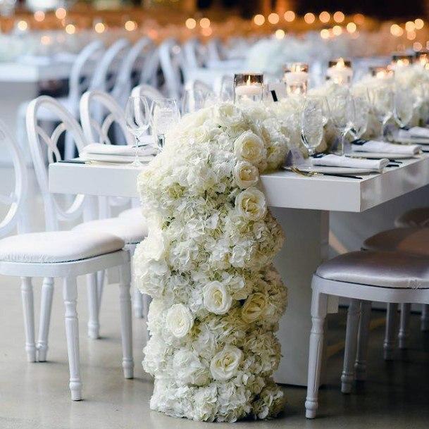 Table Runner Hydrangea Flowers