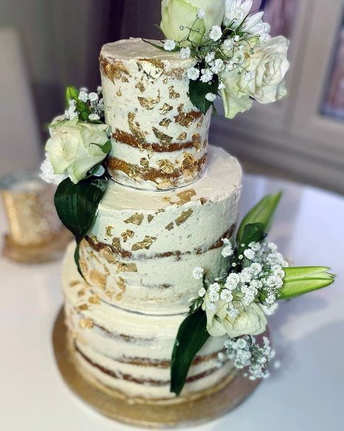 Tantalizing Gold Wedding Cake