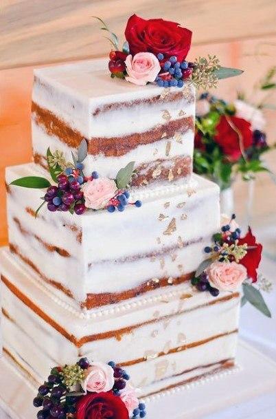 Tantalizing Square Wedding Cakes