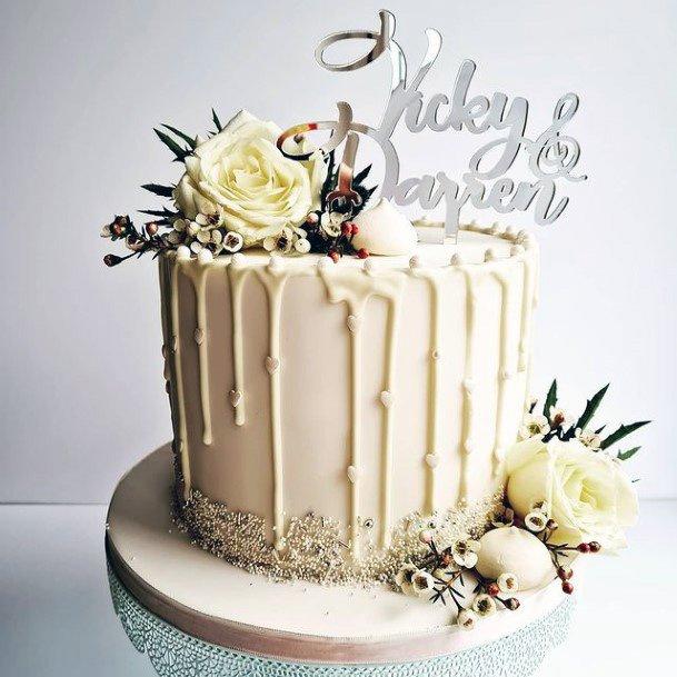 Tasty Red Velvet White Wedding Cake Art