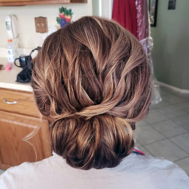 Teased Chignon Bun Hairstyle