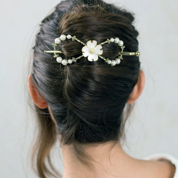 Teenage European Wintry French Twist With A Bow