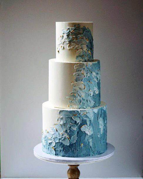 Tempting Beach Wedding Cake Waves Women